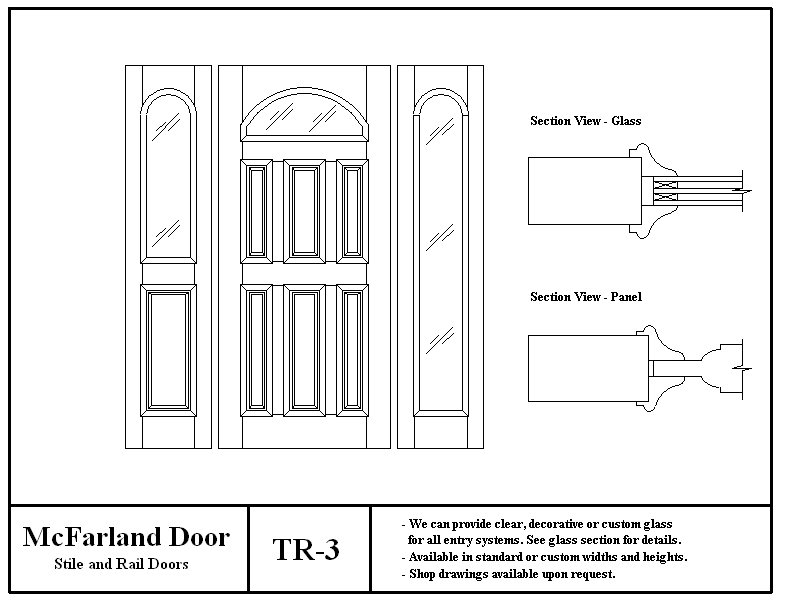 TR-3  sc 1 st  McFarland Door & McFarland Entry Doors pezcame.com