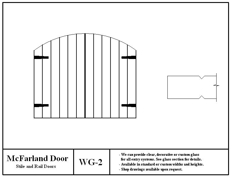 WG-2  sc 1 st  McFarland Door & Winery Doors \u0026 Gates